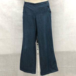 New Directions light denim sailor style pants
